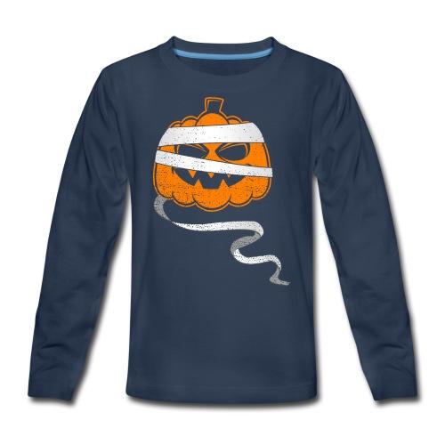 Halloween Bandaged Pumpkin - Kids' Premium Long Sleeve T-Shirt