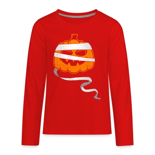 Halloween Bandaged Pumpkin - Kids' Premium Long Sleeve T-Shirt