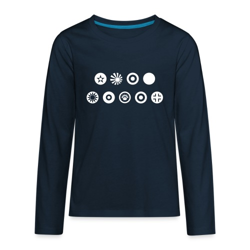 Axis & Allies Country Symbols - One Color - Kids' Premium Long Sleeve T-Shirt
