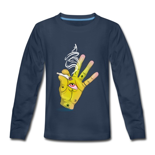 Khalwi High Khamsa - Kids' Premium Long Sleeve T-Shirt