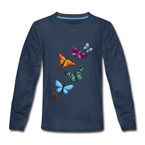 butterfly tattoo designs - Kids' Premium Long Sleeve T-Shirt