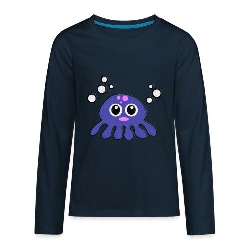 Blue Octopus - Kids' Premium Long Sleeve T-Shirt