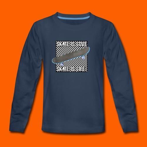 SK8 is Love - Kids' Premium Long Sleeve T-Shirt