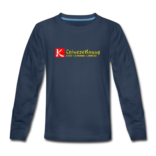 ChineseKuang Logo - Yellow - Kids' Premium Long Sleeve T-Shirt