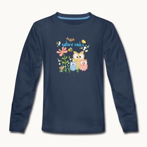 NATURE ROCKS CHILDREN Carolyn Sandstrom THR - Kids' Premium Long Sleeve T-Shirt