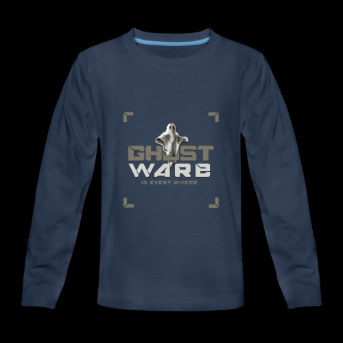 Ghostware Square Logo - Kids' Premium Long Sleeve T-Shirt