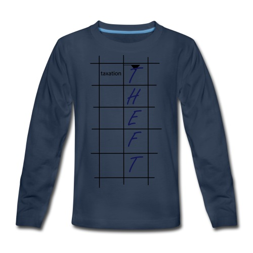 Taxation is Theft Crossword - Kids' Premium Long Sleeve T-Shirt