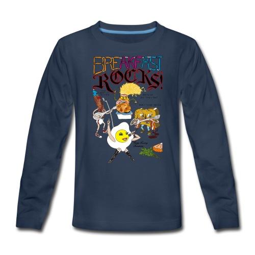 Breakfast Rocks! - Kids' Premium Long Sleeve T-Shirt