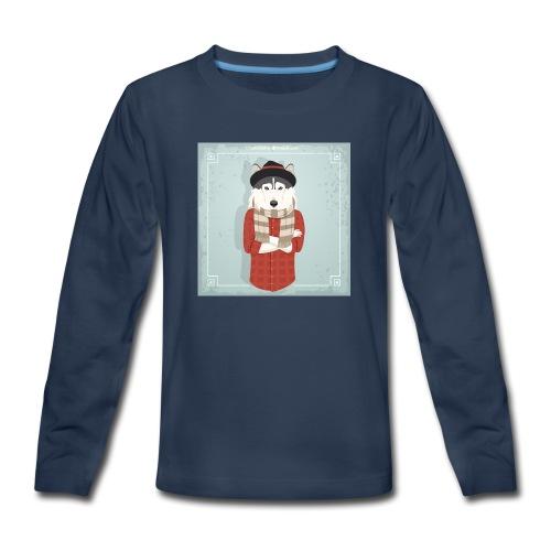 Hispter Dog - Kids' Premium Long Sleeve T-Shirt