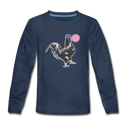 Chicken Chews Bubble Gum - Kids' Premium Long Sleeve T-Shirt