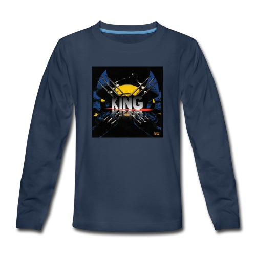 ones wolverine was a king!! - Kids' Premium Long Sleeve T-Shirt
