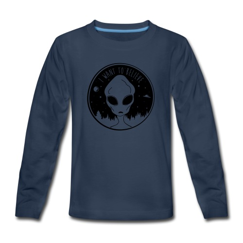 I Want To Believe - Kids' Premium Long Sleeve T-Shirt