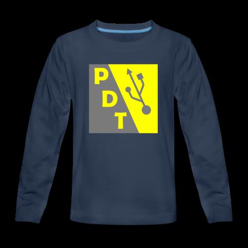 PDT Logo - Kids' Premium Long Sleeve T-Shirt