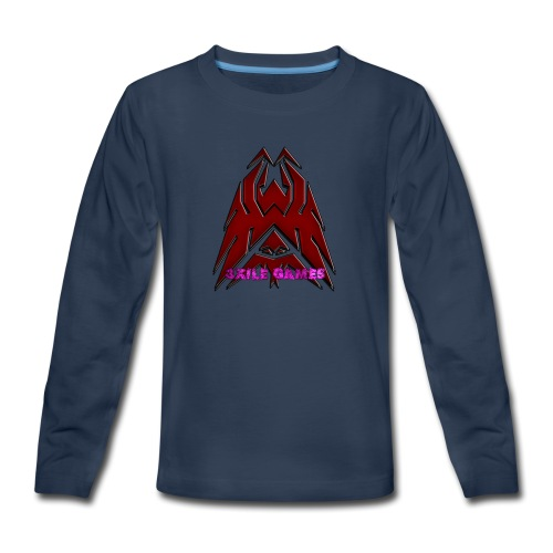 3XILE Games Logo - Kids' Premium Long Sleeve T-Shirt
