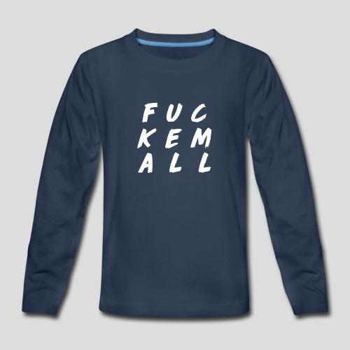 FUCKEMALL White Logo - Kids' Premium Long Sleeve T-Shirt