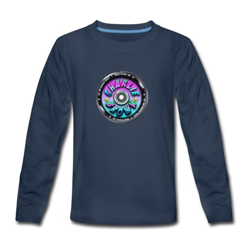 Charlie Brown Logo - Kids' Premium Long Sleeve T-Shirt