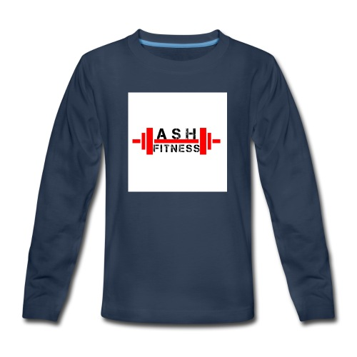 ASH FITNESS MUSCLE ACCESSORIES - Kids' Premium Long Sleeve T-Shirt