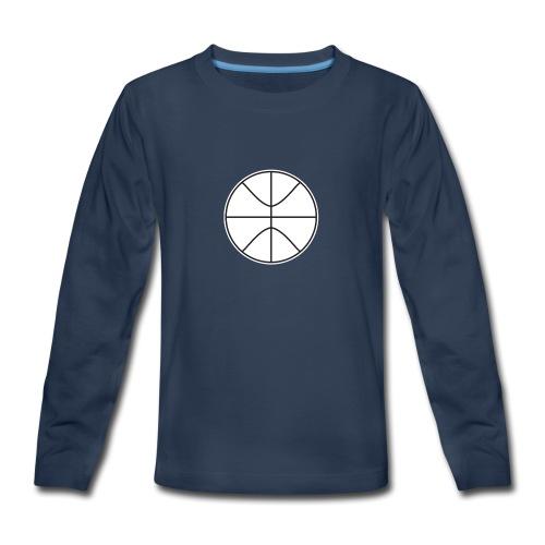 Basketball black and white - Kids' Premium Long Sleeve T-Shirt