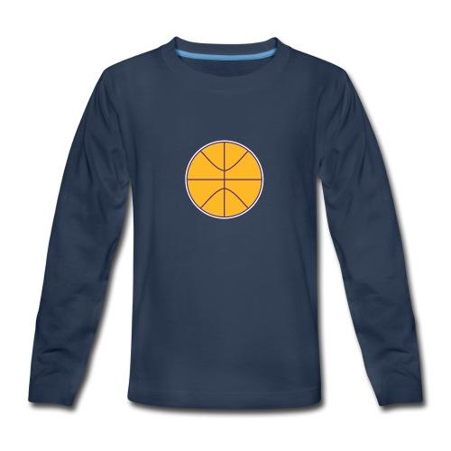 Basketball purple and gold - Kids' Premium Long Sleeve T-Shirt