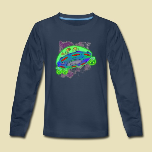 Ongher's UFO Flying Saucer - Kids' Premium Long Sleeve T-Shirt
