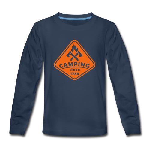 Campfire - Kids' Premium Long Sleeve T-Shirt