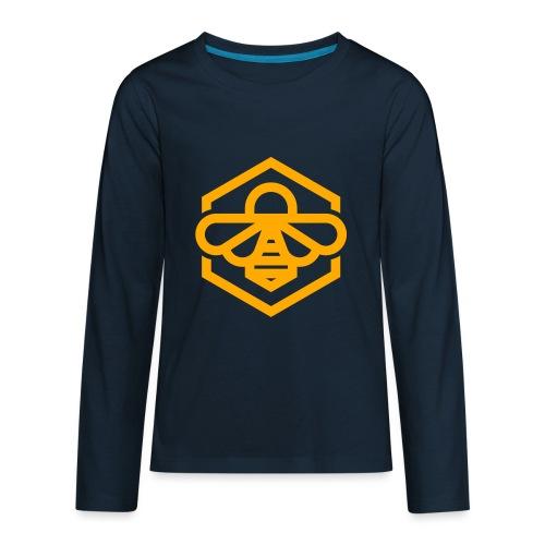 bee symbol orange - Kids' Premium Long Sleeve T-Shirt