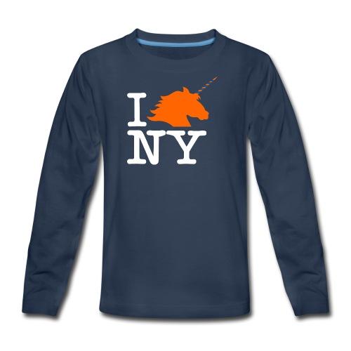 I Unicorn New York (Kristaps Porzingis) - Kids' Premium Long Sleeve T-Shirt