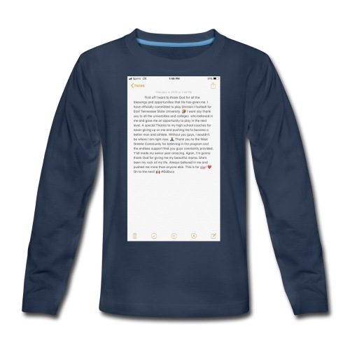 Text from a Football Commit - Kids' Premium Long Sleeve T-Shirt