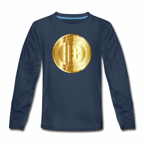 Bitcoin branding 57 - Kids' Premium Long Sleeve T-Shirt