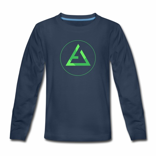 crypto logo branding - Kids' Premium Long Sleeve T-Shirt