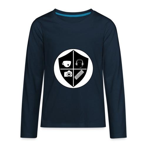 Punk Who Drinks Tea Crest - Kids' Premium Long Sleeve T-Shirt