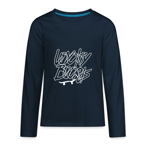 Loyalty Boards White Font With Board - Kids' Premium Long Sleeve T-Shirt