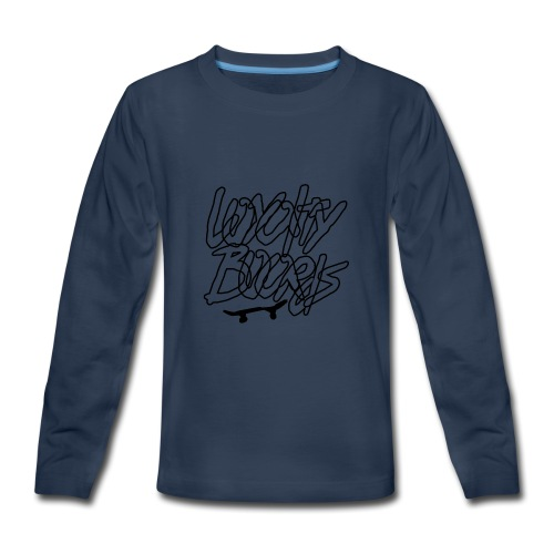 Loyalty Boards Black Font With Board - Kids' Premium Long Sleeve T-Shirt