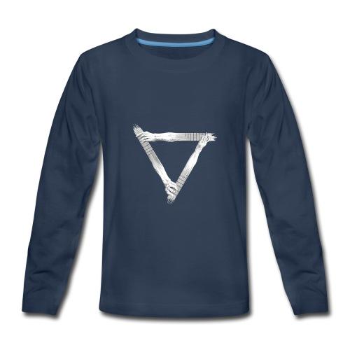 guitar arms triangle - Kids' Premium Long Sleeve T-Shirt