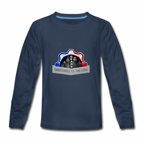 BROS TO THE END GEARS - Kids' Premium Long Sleeve T-Shirt