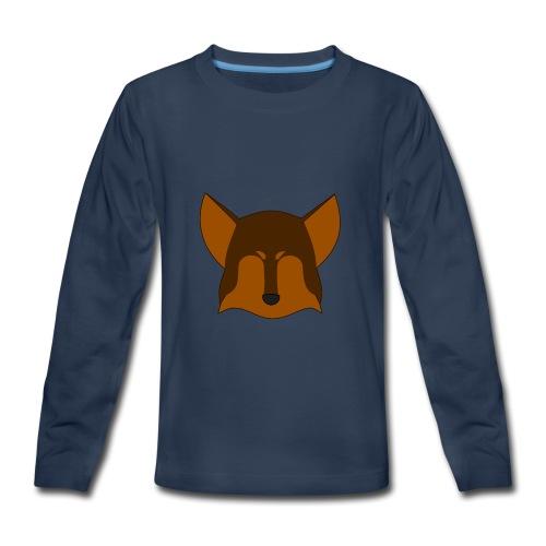 Simple Wolf Head - Kids' Premium Long Sleeve T-Shirt