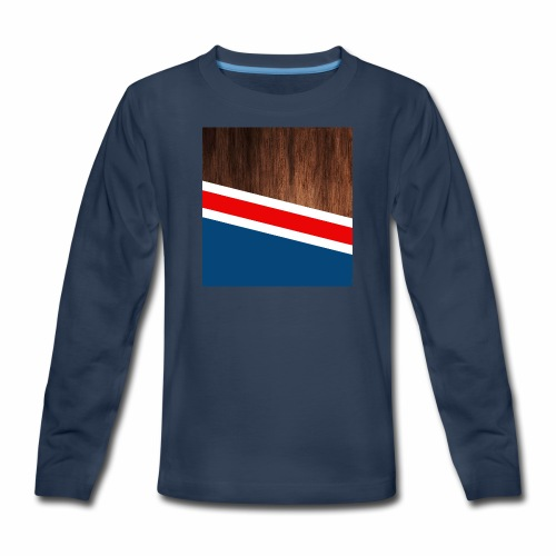 Wooden stripes - Kids' Premium Long Sleeve T-Shirt