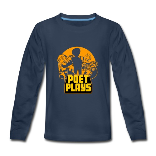 Poet Plays RETRO - Kids' Premium Long Sleeve T-Shirt