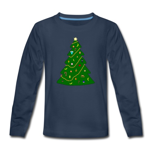 Christmas Tree For Monkey - Kids' Premium Long Sleeve T-Shirt