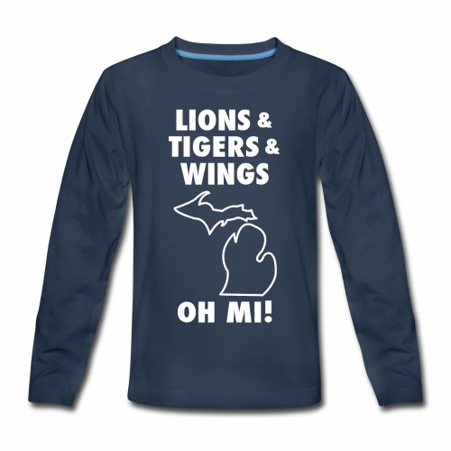 LIONS & TIGERS & WINGS, OH MI! - Kids' Premium Long Sleeve T-Shirt