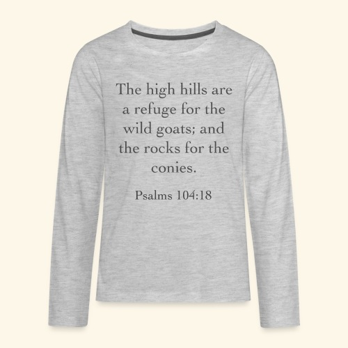 High Hills KJV - Kids' Premium Long Sleeve T-Shirt