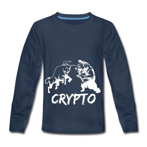 CryptoBattle White - Kids' Premium Long Sleeve T-Shirt