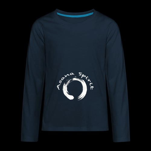 Enso Ring - Asana Spirit - Kids' Premium Long Sleeve T-Shirt
