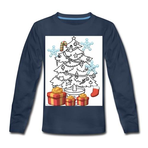 Christmas is here!! - Kids' Premium Long Sleeve T-Shirt