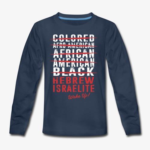 Hebrew Israelite - Kids' Premium Long Sleeve T-Shirt