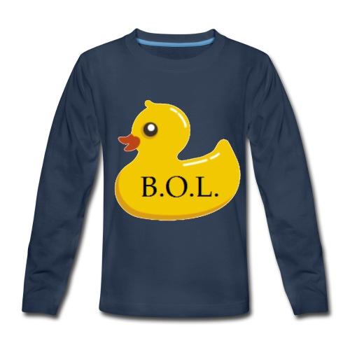 Official B.O.L. Ducky Duck Logo - Kids' Premium Long Sleeve T-Shirt