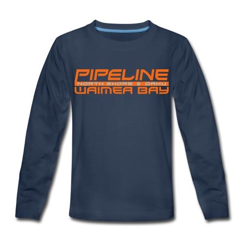 Pipeline Waimea Bay - North Shore, Oahu, Hawaii - Kids' Premium Long Sleeve T-Shirt