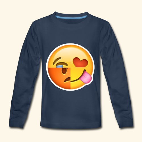 E Tees , Unique , Love , Cry, angry - Kids' Premium Long Sleeve T-Shirt
