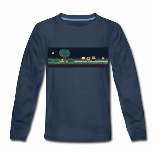 Twitter Header 01 - Kids' Premium Long Sleeve T-Shirt