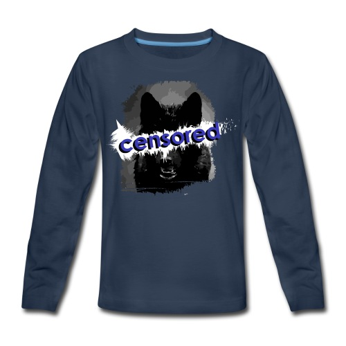 Wolf censored - Kids' Premium Long Sleeve T-Shirt